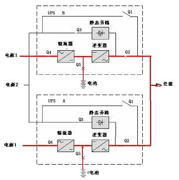 ups电池和负载接线图